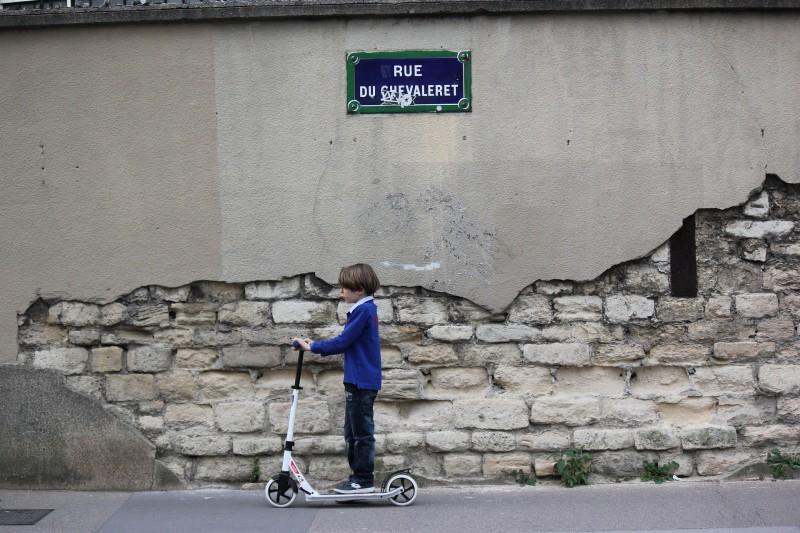 Løbehjul med store hjul er rigtig gode til transport